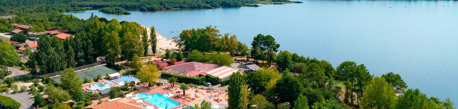 Camping Le Col Vert in Vielle-Saint-Girons is een grote camping met zwembad in Landes gelegen aan het meer Lac de Léon vlakbij prachtige zandstranden.
