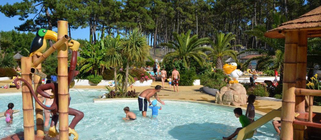 Camping Eurosol in Saint-Girons-Plage is een moderne camping met zwembad aan één van de mooiste stranden aan de Atlantische kust in Landes (Aquitaine).