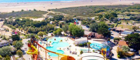 Camping Côte Vermeille in Port-La-Nouvelle is een gezinscamping aan zee in Languedoc-Roussillon met een groot zwemparadijs vol glijbanen en waterplezier.