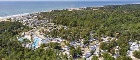 Sandaya Soulac Plage in Soulac-sur-Mer is een 4 sterren camping met aquapark aan het strand van de kust van de Aquitaine, ten zuiden van het estuarium van de Gironde.