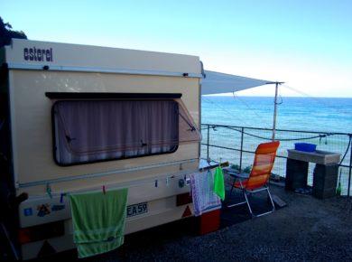De charme camping Il Rospo in Moneglia is een natuurcamping aan de Italiaanse kust in Ligurië met prachtig uitzicht op zee.