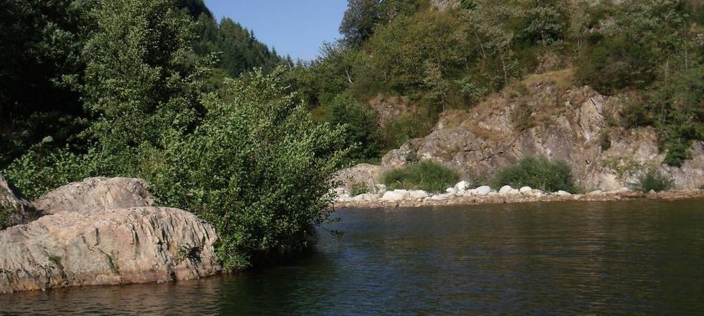 Camping Du Pont de Mercier in Thueyts is een kleine camping in de Ardèche met zwembad gelegen aan een rivier.