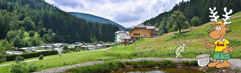 Camping Kleinenzhof in Bad Wildbad ist ein Charme Camping mit Schwimmbad in Baden-Württemberg am ein fluss.