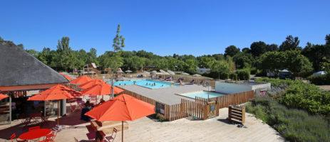 Fraaie camping met zwembad in de Loire-Vallei, in de omgeving van de Loire kastelen, prachtige fietsroutes, wijnhuizen en het centrum van Angers.