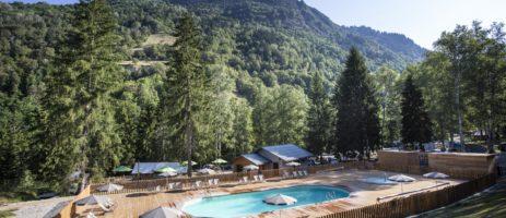 Prachtige camping met zwembad voor een heerlijke vakantie in de Franse bergen aan de poort van het Nationaal Park Vanoise.