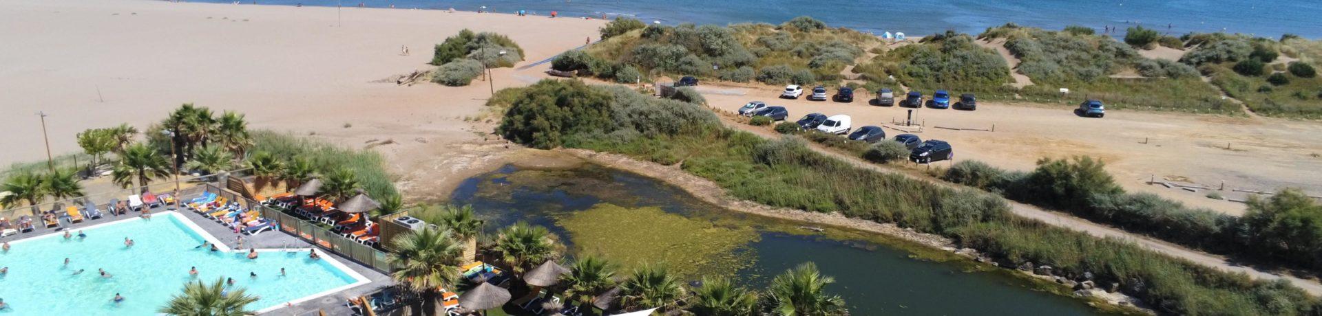 Niet ver van de stad Narbonne, gelegen aan de kust van de Middellandse Zee, ligt camping Bleu Marine.