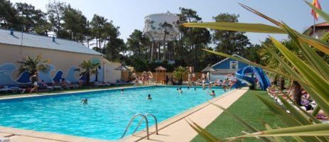 Club Marina-Landes is een familiecamping met waterpark gelegen in Landes in een bosrijke omgeving op 500 meter van het strand en 1 km van Mimizan Plage.
